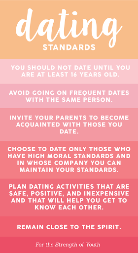 Christian dating standards list