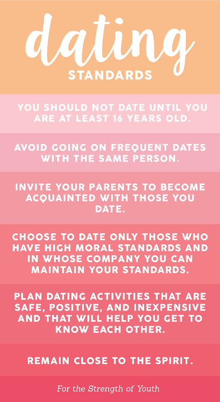 For the Strength of Youth Dating Standards YW Lesson Handout