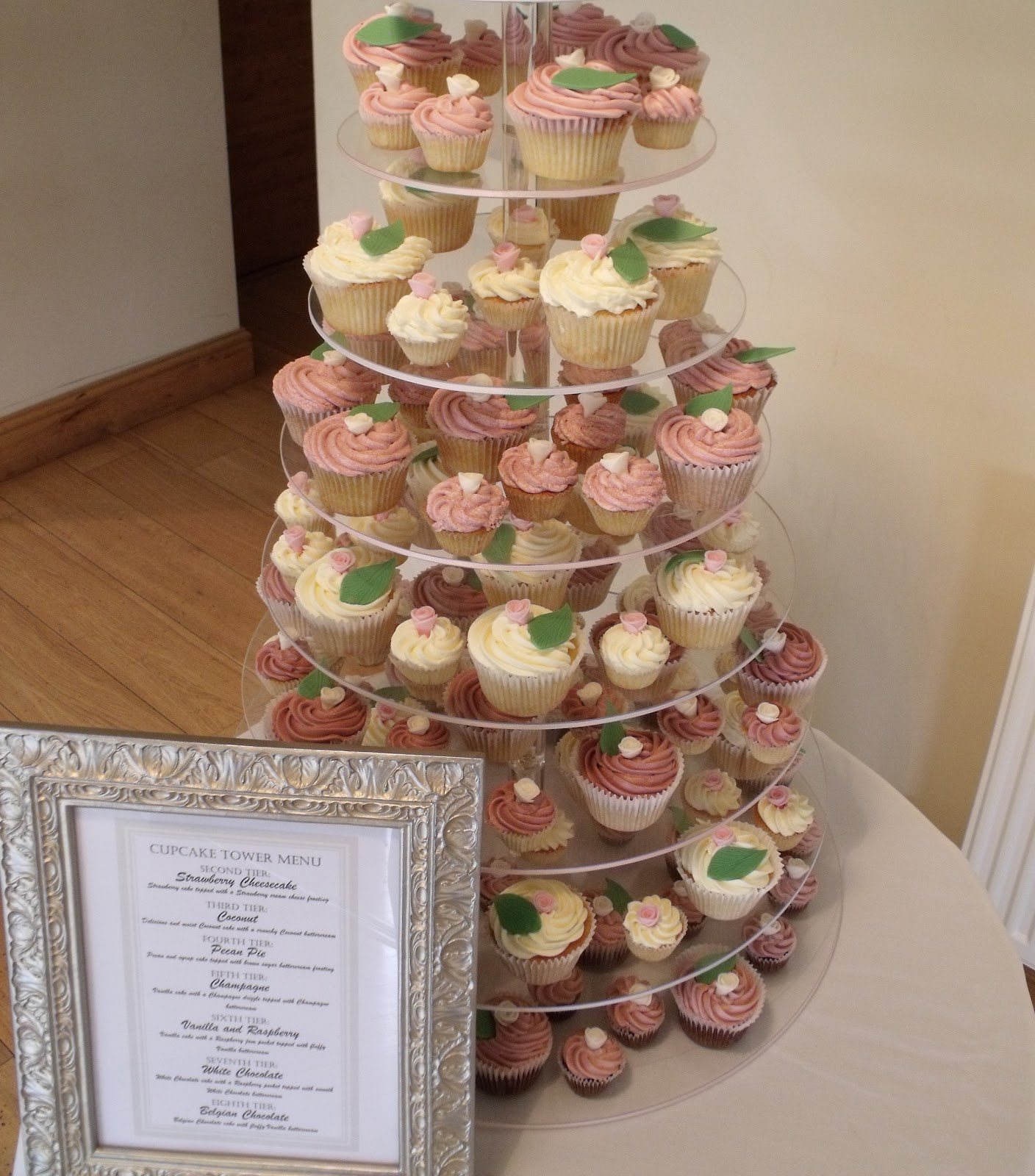 Pink and White Wedding Cupcake