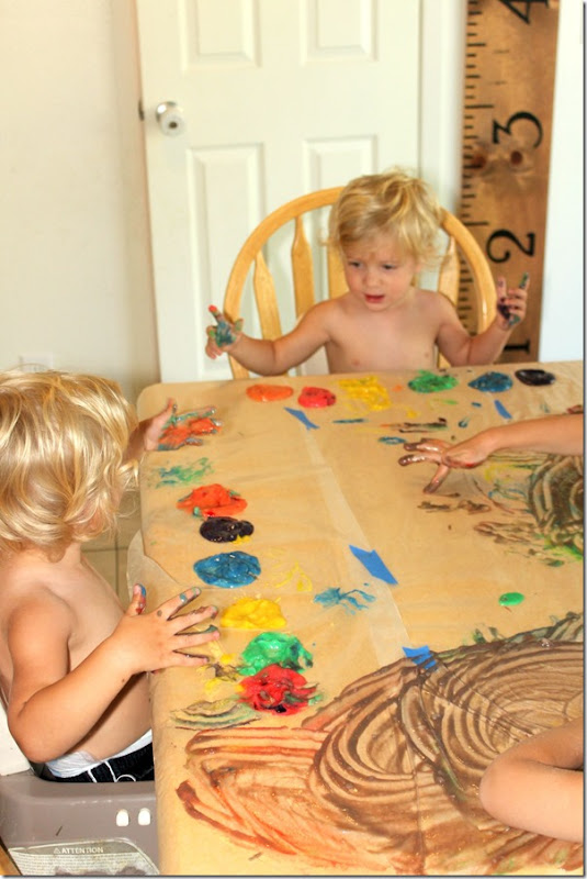 Easiest way to finger paint