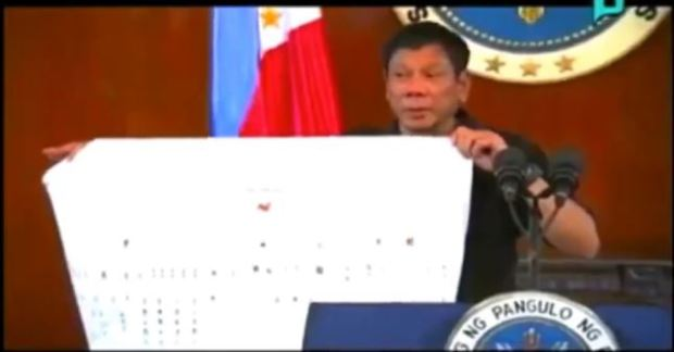 Image of Duterte Flow Chart Shows Garbo as the Root of Drug Syndicate