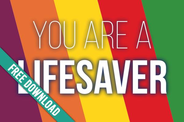 Girls Camp Pillow Treat Handout: Lifesaver!