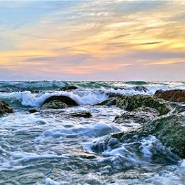 { Sunset Beach ~ Warm Summer gulf waters ~ 31 July }  by Jeffrey Lee - Landscapes Waterscapes ( { sunset beach ~ warm summer gulf waters ~ 31 july } )