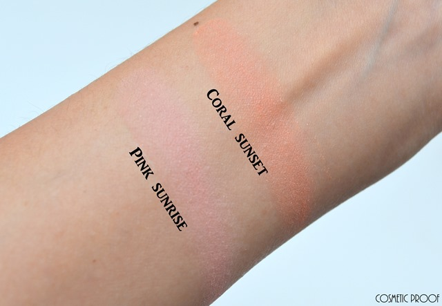 Dior Diorskin Nude Tan Tie Dye Blush in Pink Sunrise and Coral Sunset Swatch Review (4)