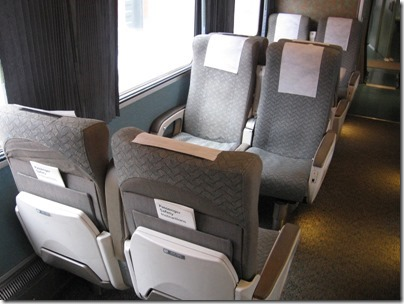 IMG_0707 Amtrak Cascades Talgo Pendular Series VI Coach Class Interior at Union Station in Portland, Oregon on May 10, 2008