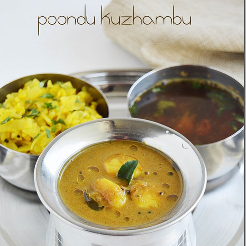 Poondu kuzhambu with coconut / Garlic kuzhambu