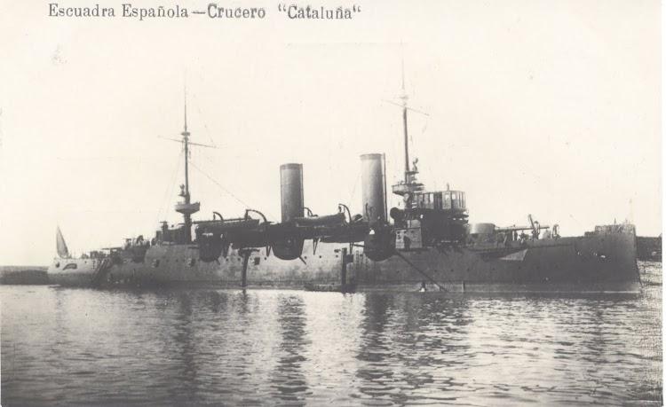 Crucero acorazado CATALUÑA. Foto Coleccion Juan Padron Albornoz. Base de datos de la Universidad de la Laguna.jpg