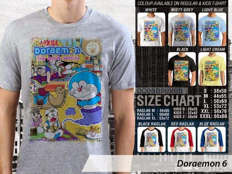 KAOS Doraemon 6 Manga Lucu distro ocean seven