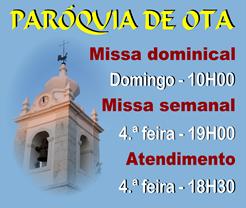 Paroquia de Ota - Missas e atendimento