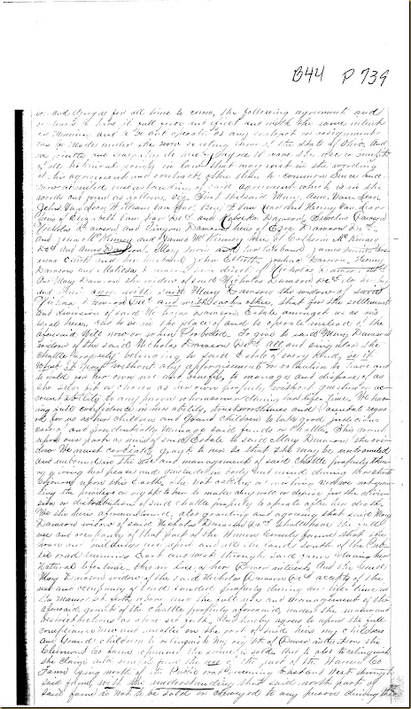 Nicholas Dawson,Deerfield Twp,Warren Co,OH, Mary Irwin,James Irwin heirs 18672