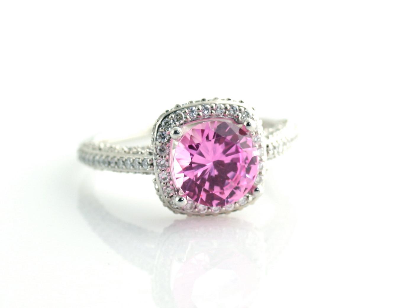 14K Pink Sapphire Engagement