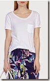 Karen Millen white short sleeved pocket t-shirt