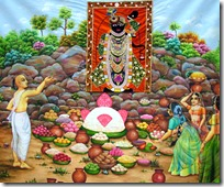 [worshipers of Govardhana Hill]