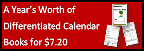 A Year's Worth of Differentiated Calendar Books on sale on August 19, 2015 for just $7.20 from Raki's Rad Resources on Teachers Pay Teachers