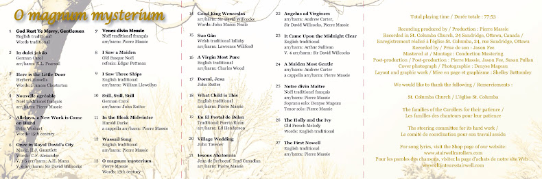 O Magnum Mysterium CD booklet