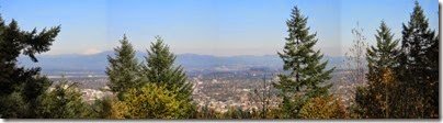 1 Panoramic View from Council Crest Park in Portland, Oregon on October 23, 2007