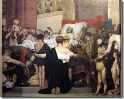 Death of Saint Genevieve (center panel)