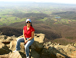 Fialka Grigorova at the summit of Stony Man Mountain, Shenandoah National Park in Virginia, April 2009.