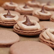 chocolate hazelnut macaron recipenotext