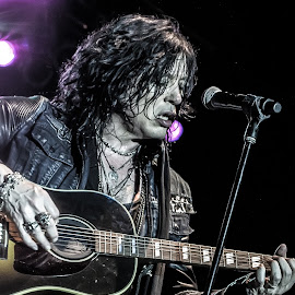 Tom Keifer Playing Guitar by Dazz Lee Briggs - People Musicians & Entertainers ( tom keifer live in concert, rock star, rock, musician, playing guitar, rockstar, cinderella, on stage, guitar player, tom keifer, ohio bike week )
