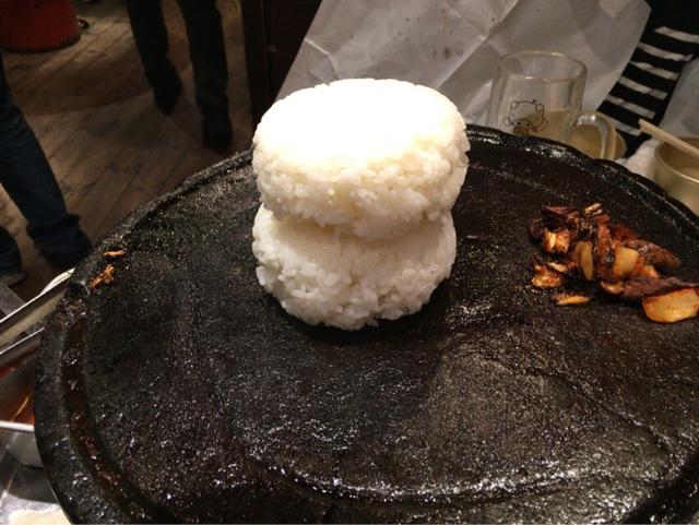 とんちゃん オンドル石 ご飯