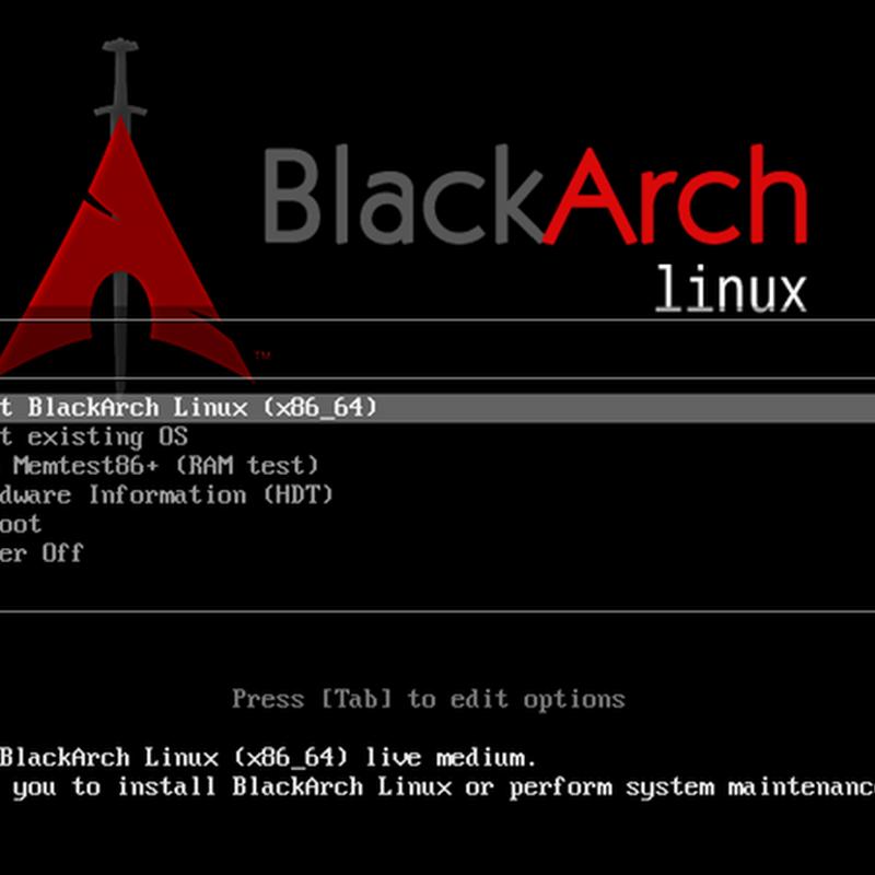 BlackArch el lado oscuro de Arch Linux.