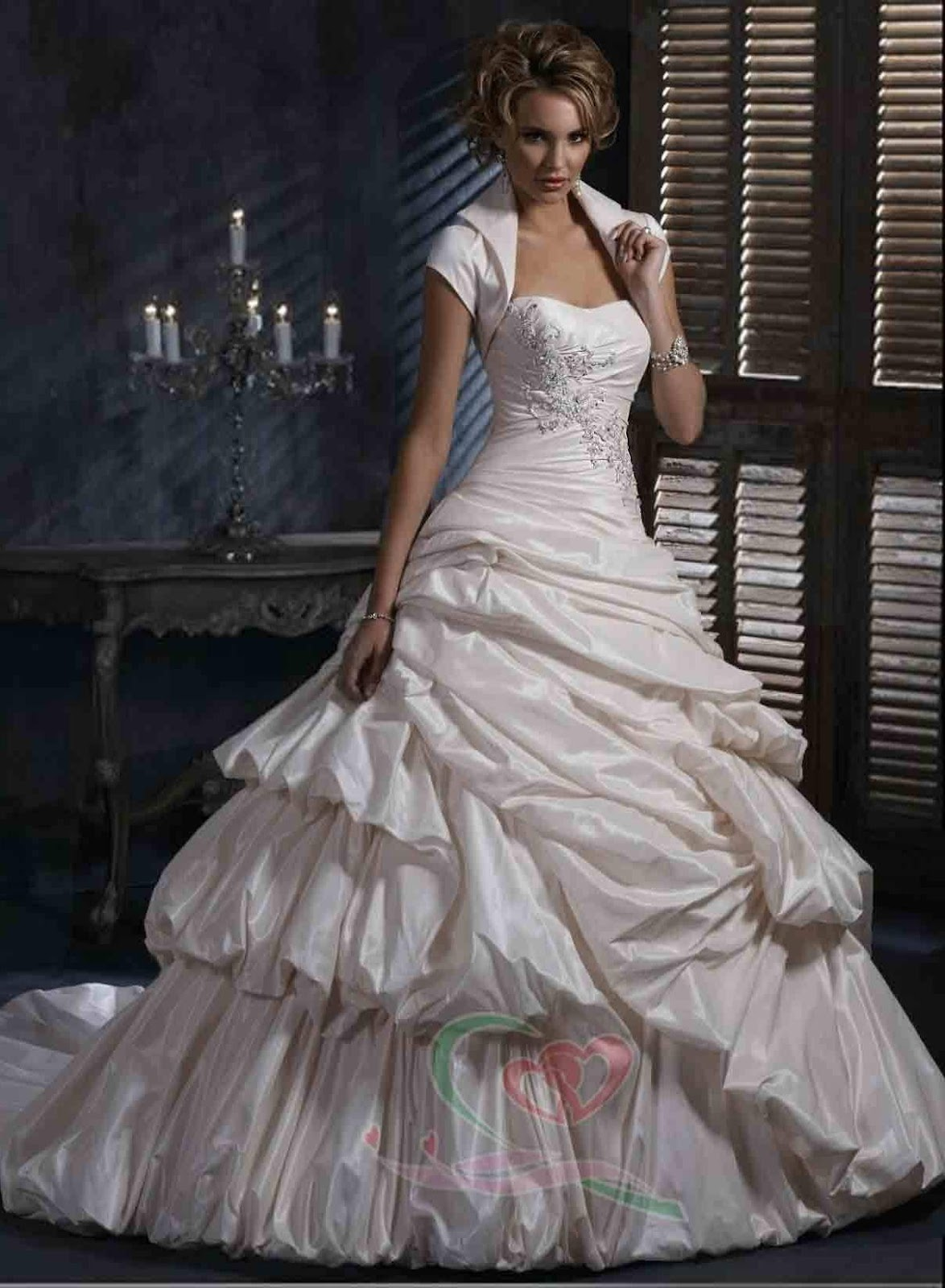 high fashion wedding dress