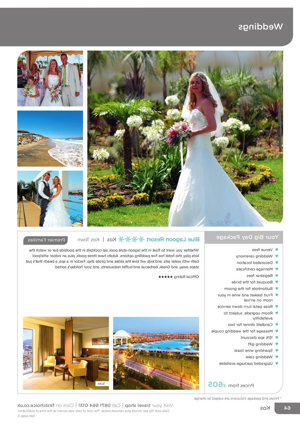Greece - Mediterranean - First Choice Weddings and Renewal of Vows November