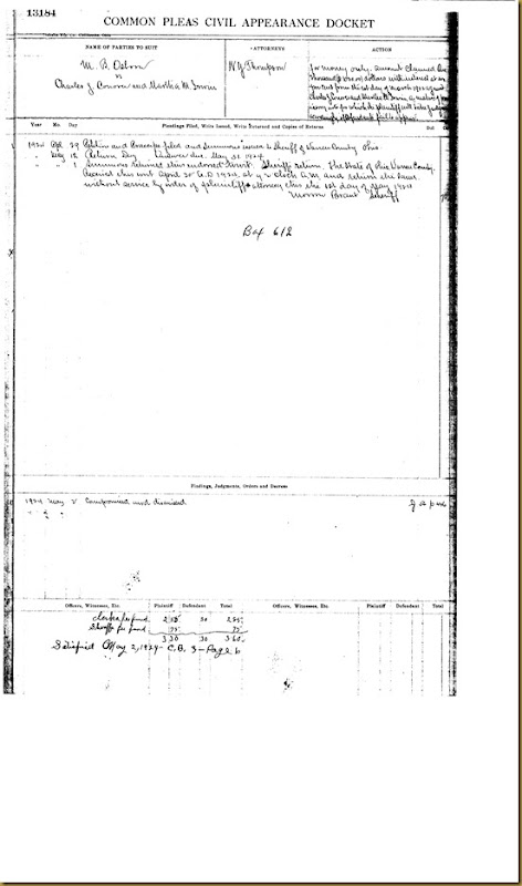 M.B. Osborn file law suit against Charles J. Conover and Martha M. Irwin 1924 2