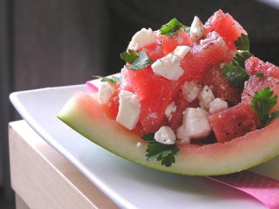A tasty way to get that vinegar into your diet — watermelon feta salad