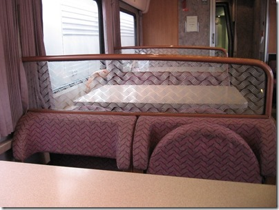 IMG_0694 Amtrak Cascades Talgo Pendular Series VI Dining Car Interior at Union Station in Portland, Oregon on May 10, 2008