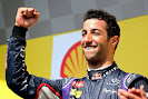 Rejoicing of Daniel Ricciardo
