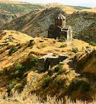 Monastery near Amberd Fortress on Mt. Aragats, Armenia.