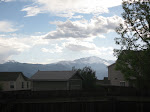 The view of Pikes Peak from Jeff's backyard