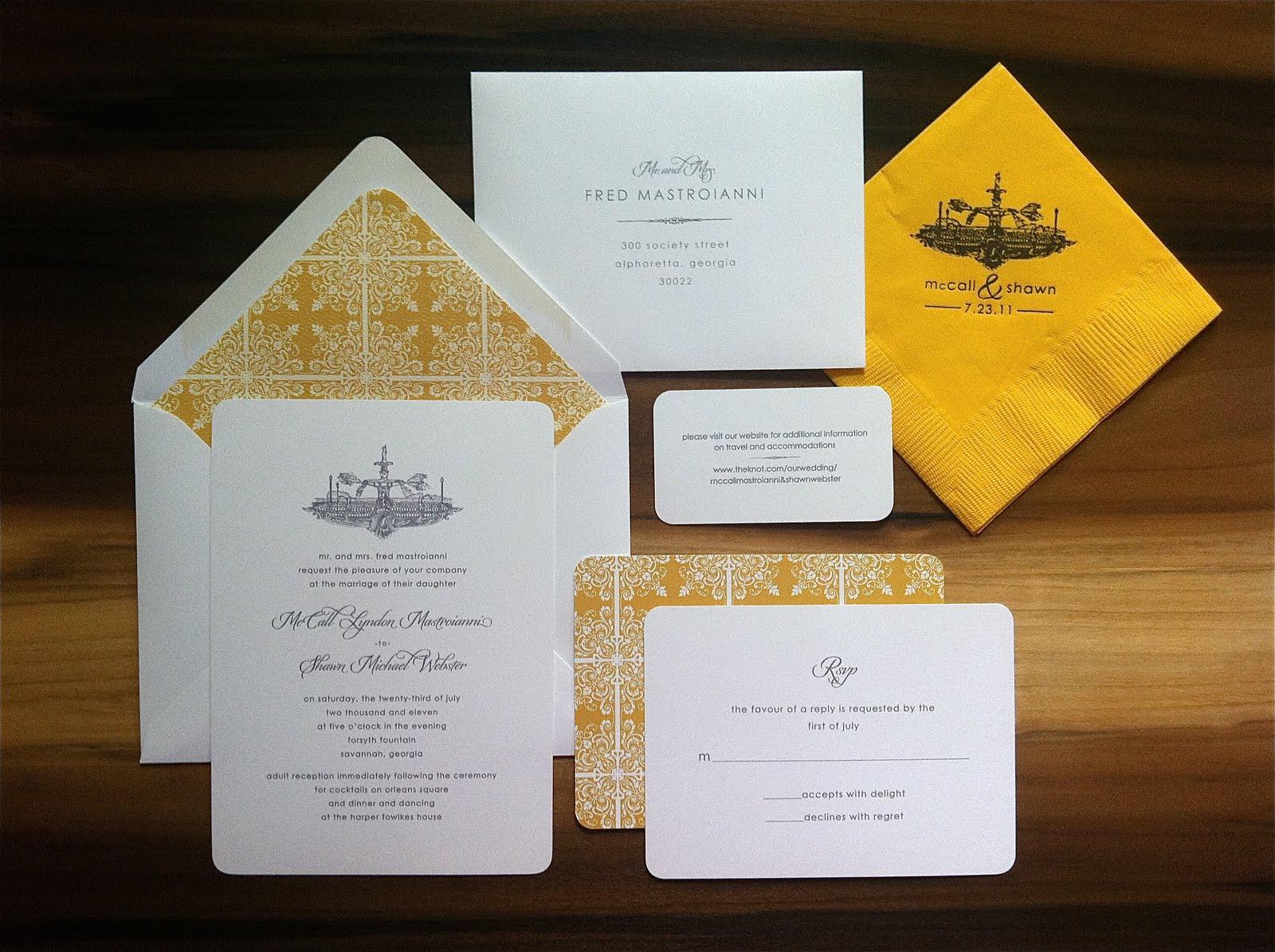 Wedding Invitations Forsyth