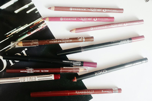 lip liner collection, budget lip liners