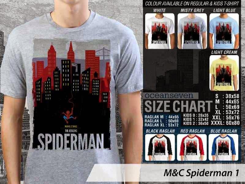 Kaos Movie Spiderman 1 Film Cinema distro ocean seven