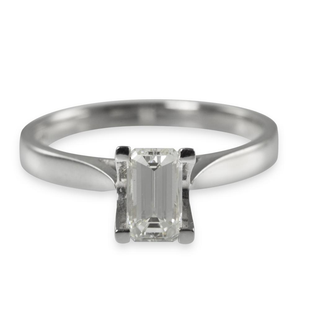 Cut Diamond Solitaire Ring