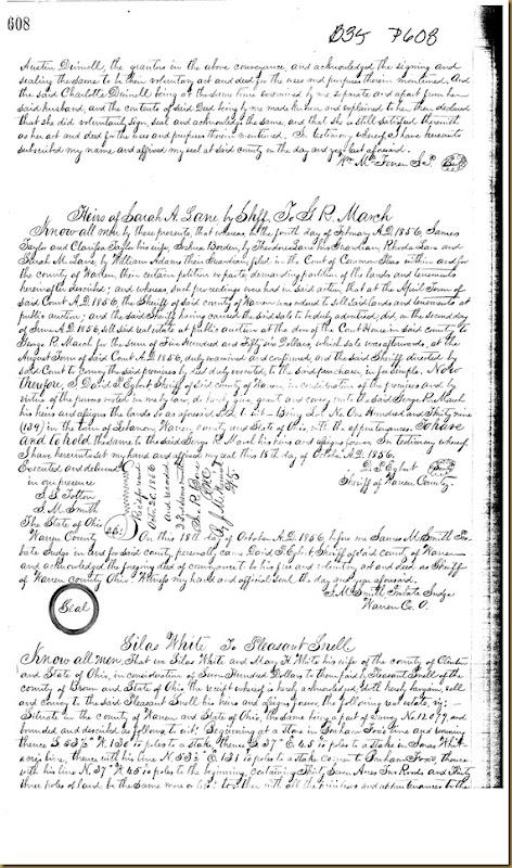 Austin Duinell,Charlotte Duinell,Warren Co, OH convey John Irwin 1855 4