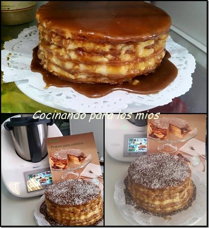 elaboracion tarta milhojas de crema y toffee111