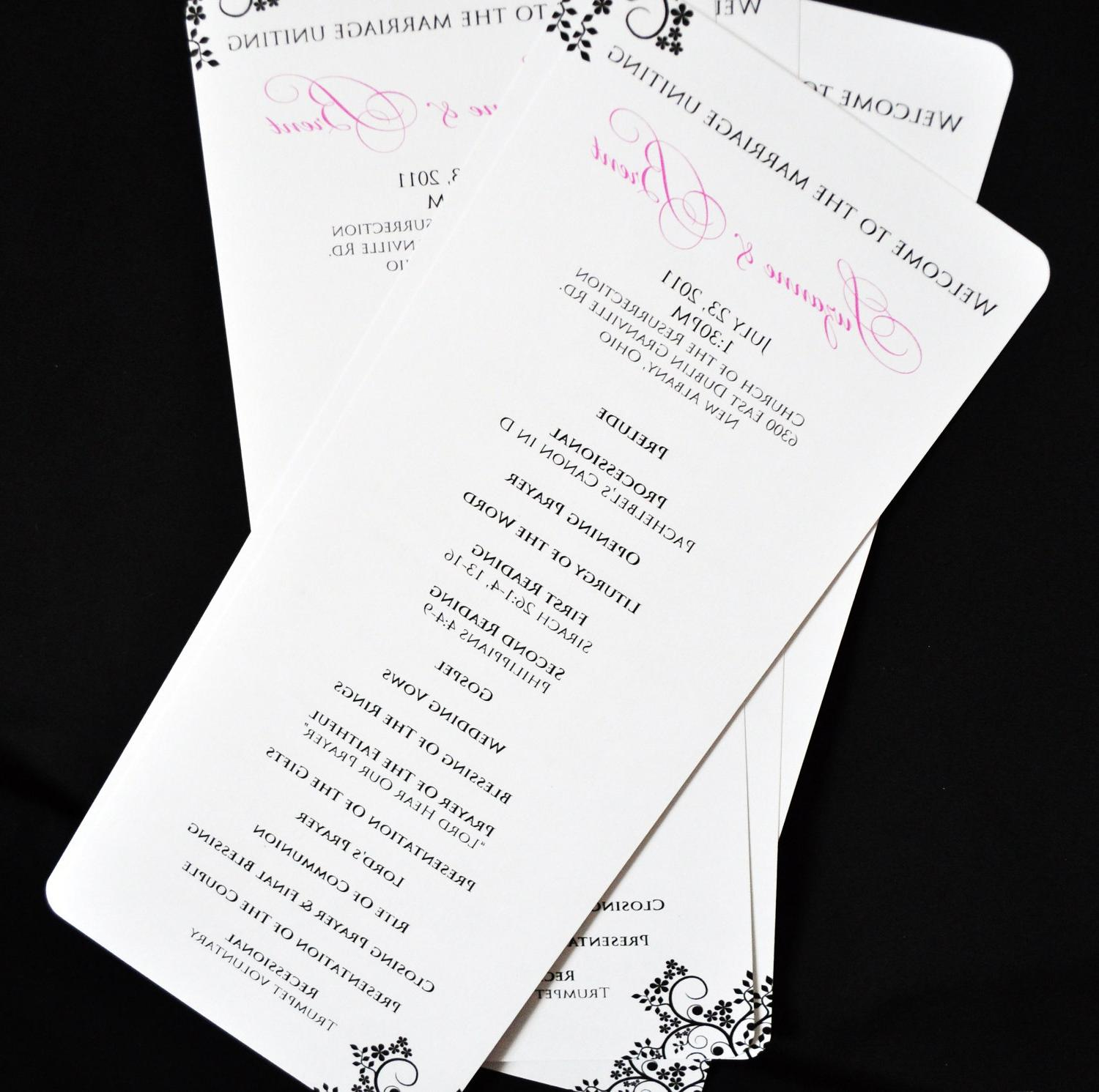 Skinny Wedding Programs