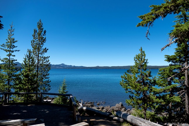 Waldo Lake view from the amphitheater at North Waldo Campground