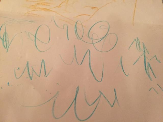 three year old writing