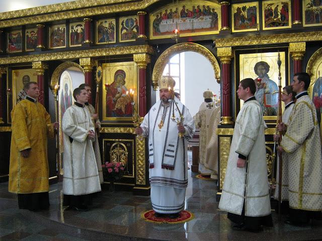 Литургия во Львовской семинарии Святого Духа