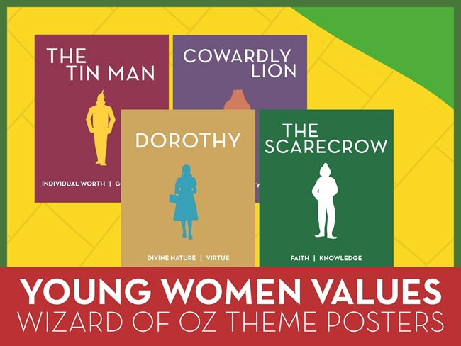 The Wizard of Oz 2015 Theme Posters for Young Women: YW Value Poster