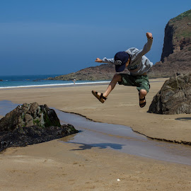 Jumping for joy in Jersey by Stuart Walker - Babies & Children Child Portraits