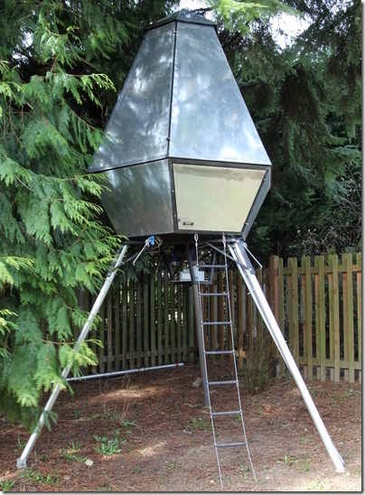 spaceship treehouse
