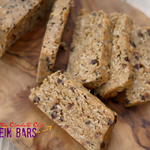 Peanut Butter Chocolate Chip Protein Bars (No-Bake)