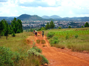 The last few miles back to Antsirabe seemed to never end - I was really worn out by the time we got back. But at least the views were always pretty!