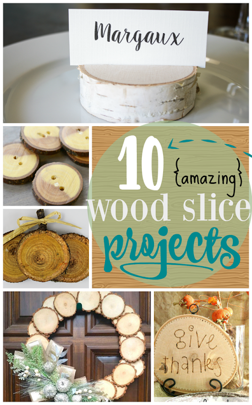 10 Amazing Wood Slice Projects at GingerSnapCrafts.com #woodslice #crafts